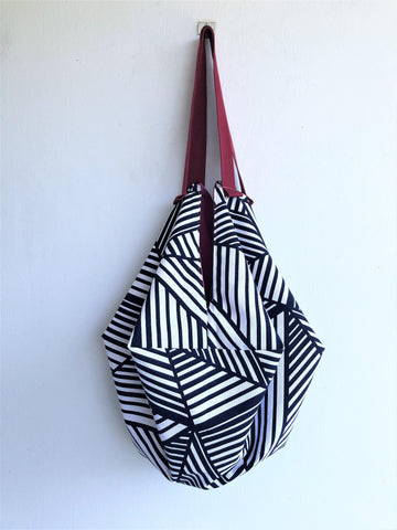 Japanese inspired geometric origami sac shoulder bag | crossing lines - jiakuma.myshopify.com