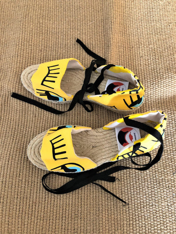 Lace up espadrilles handmade jute summer wedge woman sandals | Yellow eyes - jiakuma.myshopify.com