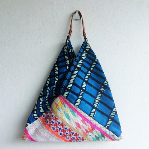 Handmade eco friendly origami bento bag | African & Mexico ethnic bag -  bento bag