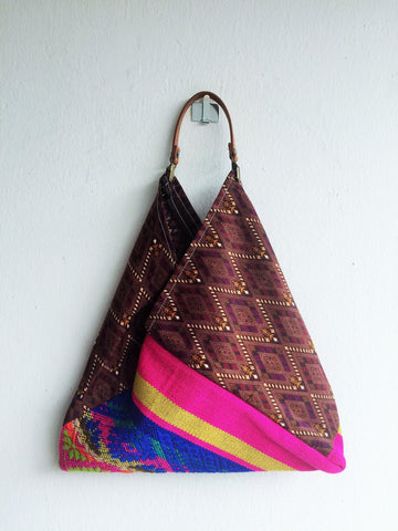 Eco friendly orgami bento bag | Batik & Indian -  bento bag
