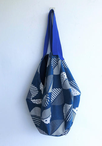 Shoulder sac bag , origami Japanese inspired large bag | Blue Tokyo