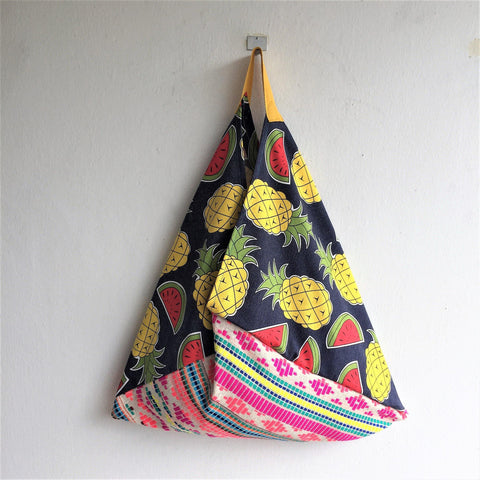 Shoulder eco friendly market bento bag | Mexican pineapples - jiakuma.myshopify.com