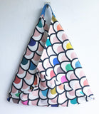 Origami bento bag colorful shoulder cool fabric triangle bag |  Barcelona