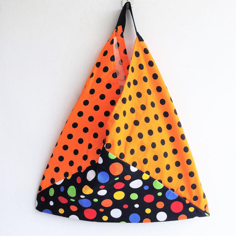 Cotton canvas reusable fabric , shoulder bento bag | Naranja -  bento bag