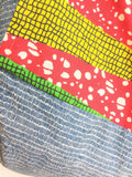 Colroful African fabric tote bag | Lines and African dots - jiakuma.myshopify.com