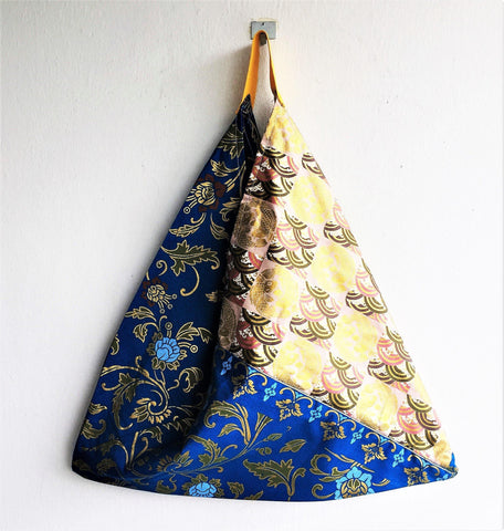 Shoulder origami handmade fabric bento bag | gold fish -  bento bag