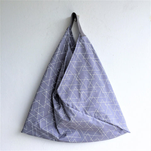 Origami eco friendly bento shoulder bag | Minimalism geometry -  bento bag
