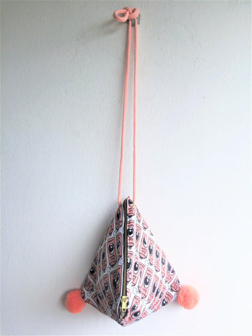 Small one of a kind shoulder bag triangle origami bag | Hairspray - jiakuma.myshopify.com