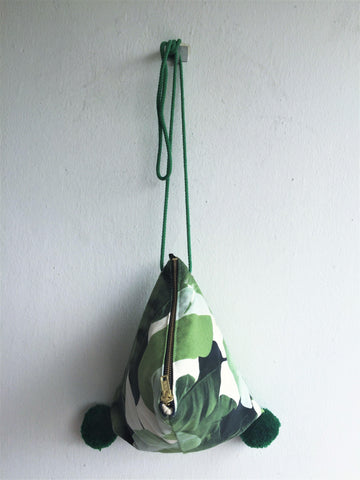 Tropical leaves dumpling bag - jiakuma.myshopify.com