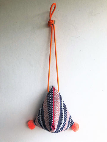 Dumpling shoulder fabric bag, origami japanese inspired boho bag | Tijuana
