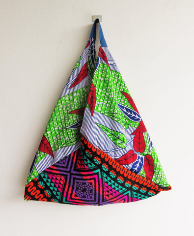 One of a kind bento bag | African infinite leaf -  bento bag