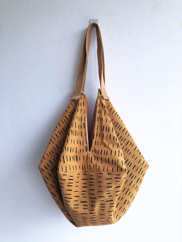 Geometric shoulder origami bag | Tiger -  bento bag