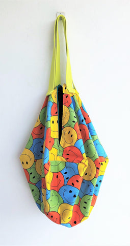 origami sac shoulder fabric geometric bag | Smiley faces - jiakuma.myshopify.com