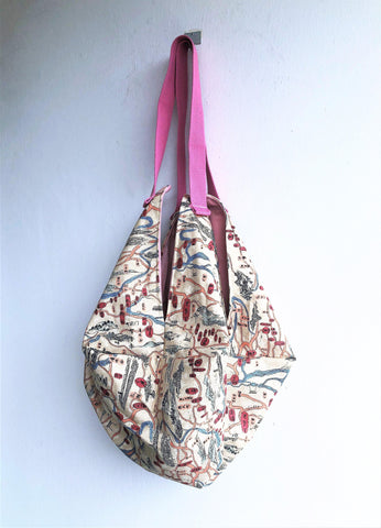 Eco friendly sac shoulder origami bag | Kyoto map