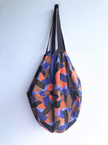 Japanese inspired geometric handmade ooak colorful shoulder bag | Japanese stars - jiakuma.myshopify.com