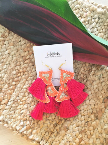Banana leave earrings - jiakuma.myshopify.com