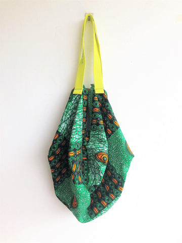 Shoulder fabric  origami sac, handmade eco friendly bag African fabric shopping bag | the eyes of Africa