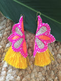 Pink shell Ginger earrings -  bento bag