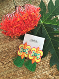 Tropical butterfly earrings -  bento bag