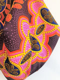 Origami sac African wax fabric shoulder bag , eco friendly reversible groceries batik bag | Masai