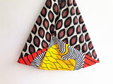 Shoulder eco handmade bag, origami triangle bag , shopping African fabric Bag | Africa & Cacao