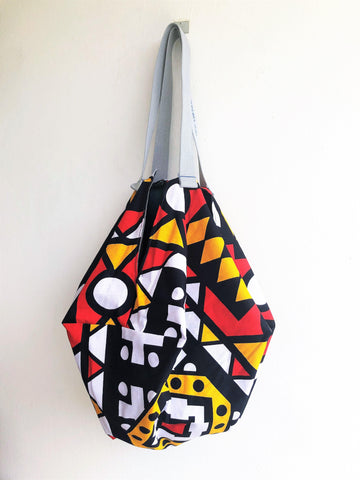Sac shoulder colorful eco bag, African fabric and batik handmade bag | Africa & Malaysia