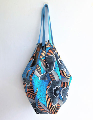 Shoulder sac handmade origami reversible bag | tiger vintage 70