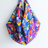 Shoulder sac bag, origami sac reversible bag, eco friendly colorful handmade bag | Colorful wonderland