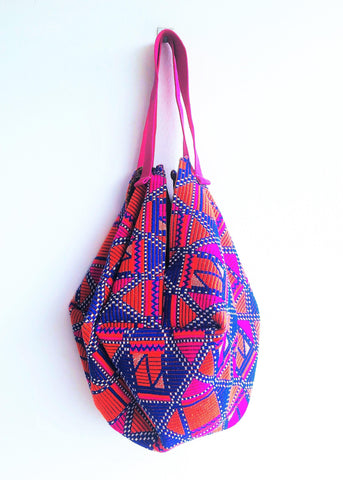 Shoulder origami bag, ecofriendly boho sac bag | Maya