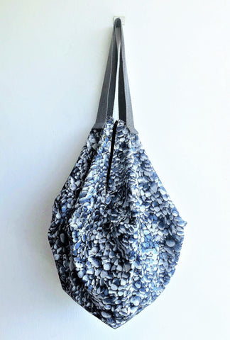 Cool Japanese fabric origami handmade octagonal shoulder bag | Pebbles
