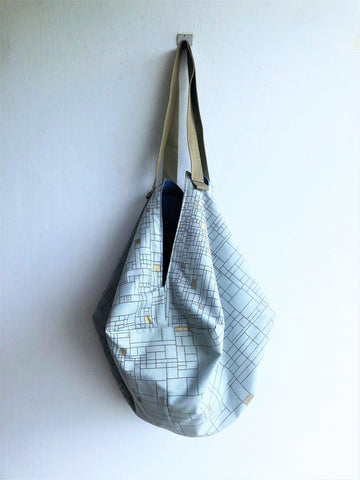 shoulder fabric handmade sac, eco shopping minimalist geometric bag | Lineas infinitas
