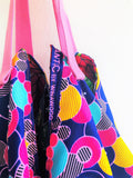 Colorful origami sac bag, shoulder eco friendly shopping tote bag | Big bubblegum