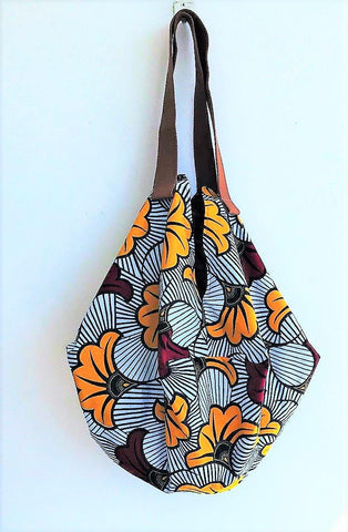 Shoulder sac origami eco friendly African fabric handmade colorful bag | Flowers of Africa