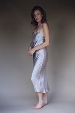 Silk Slip Dress in Pearl