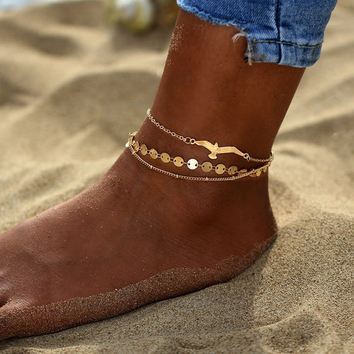 3PCS Eagle Ankle Bracelet - Amour Smiles