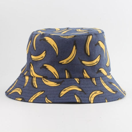 Banana Print Bucket Hat - Amour Smiles