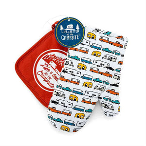 Multi Color RV Oven Mitt - Red Pot Holder