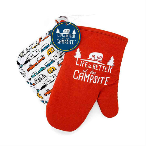 Red RV Oven Mitt - Multi Color Pot Holder