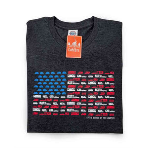 Patriotic Print Life is Better At The Campsite T-shirt