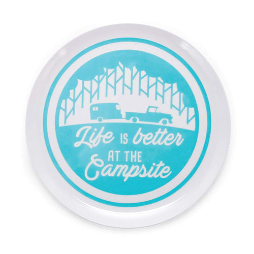 Life is Better at the Campsite Bowl Trailer / Tree Pattern