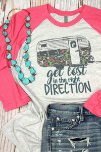 Get Lost In the Right Direction Tri-Blend T-shirt