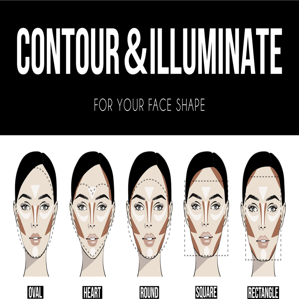 How To Contour & Highlight Your Face Shape With Makeup