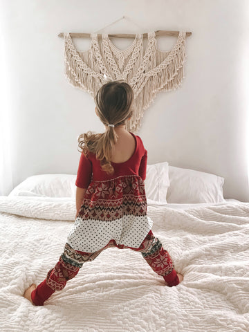 Christmas sweater Low Back Romper