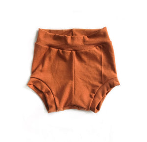 Bamboo Shorties in Rust