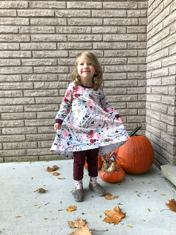 Winter Floral Play Dress