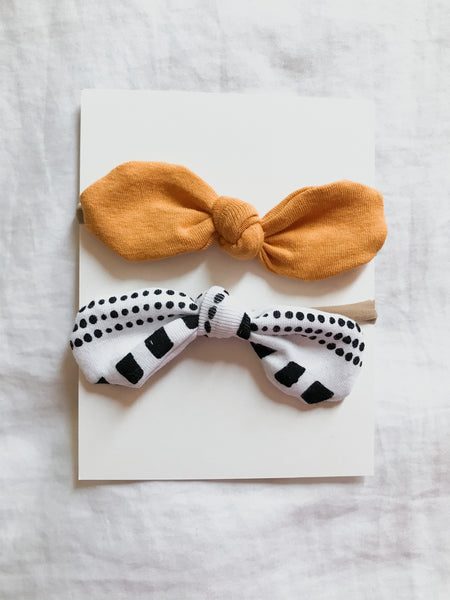 Newborn Bow nylon headband