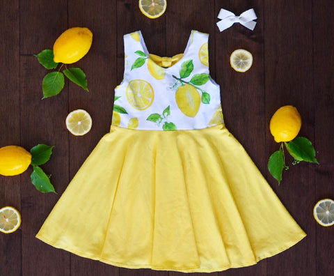 Lemon bow dress