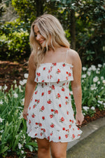 Rose Print Ruffle Dress-Dresses-Womens-Southern-Boutique-Shop