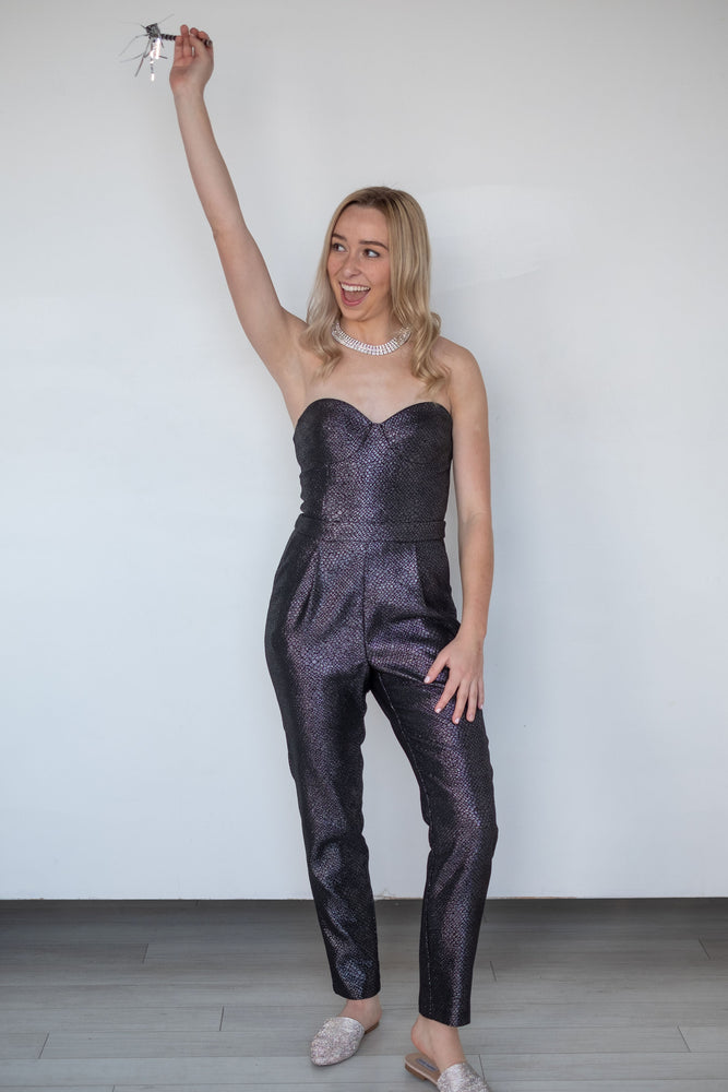 Snake Strapless Jumpsuit - Pretty Southern Mess