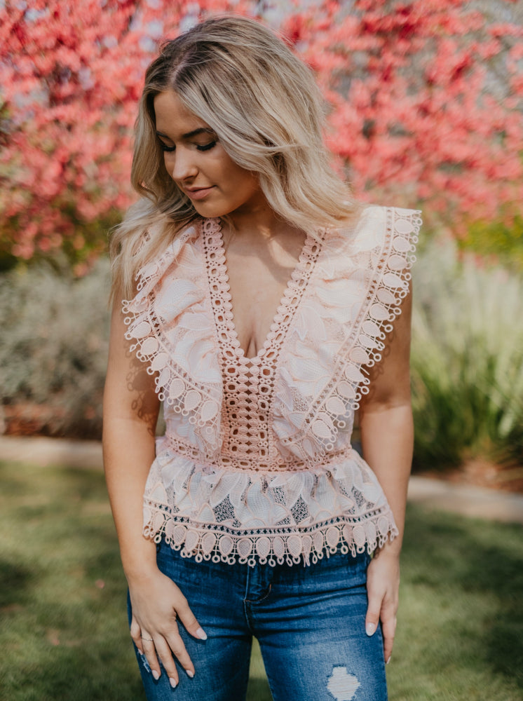 Mariaclara Blush Top-Tops-Womens-Southern-Boutique-Shop